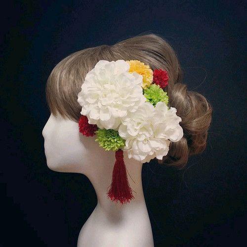 飾れるフラワーBOXの髪飾り♡ホワイト