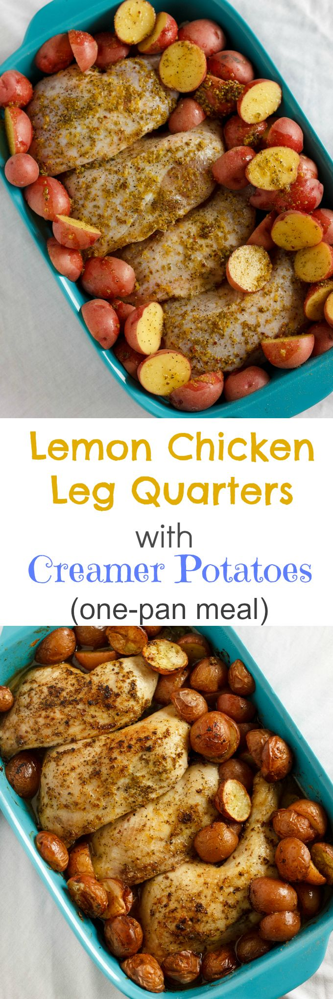 One-Pan Lemon Chicken Leg Quarters with Creamer Potatoes 2