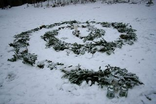 Winter Solstice Eve ~ Outdoor Spiral ~ A How To Guide ~ Creating your own Traditions ~ Ideas, Verses & Songs