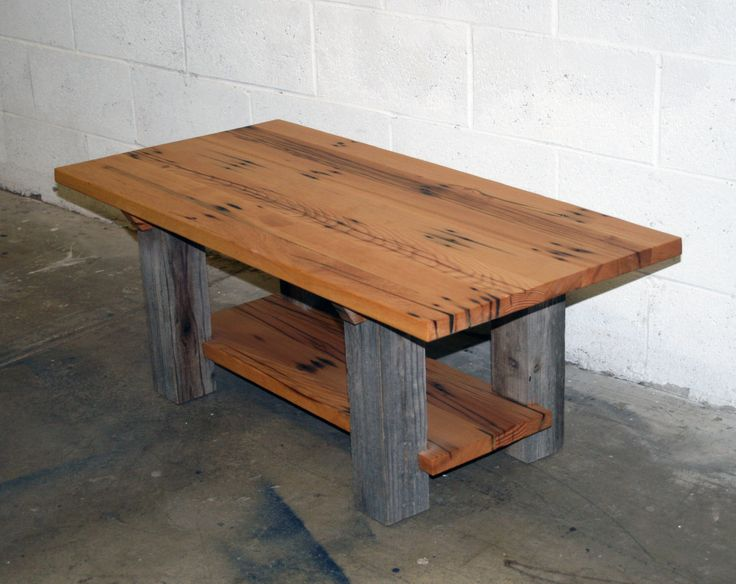 ~this Coffee Table Is Crafted From Reclaimed Fir Top And Shelf With Barn  Wood Legs Tall X 20 Wide X 42 Long ~finished With A Low VOC Penetrating Oil  With ...