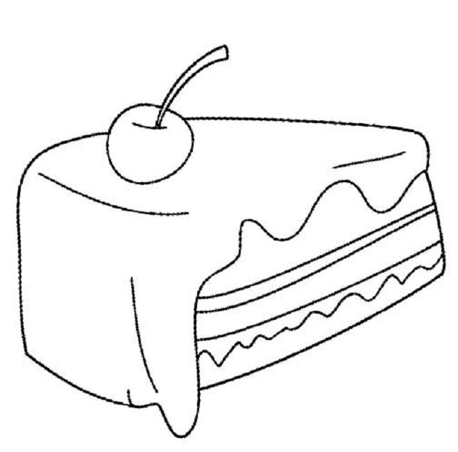 fruit cake coloring page Food Fruit coloring pages
