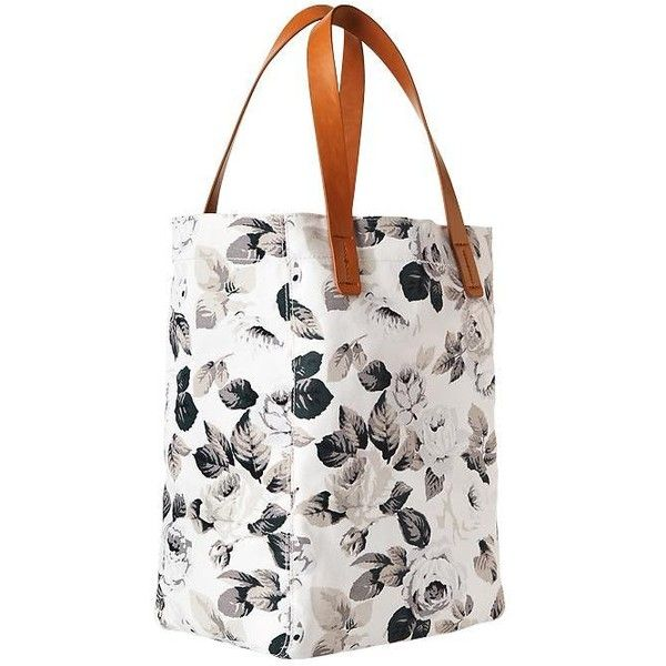 Gap Women Printed Canvas Tote ($31) ❤ liked on Polyvore featuring bags, handbags, tote bags, black leaves, regular, tote purses, gap tote bag, canvas purse, handbags tote bags and gap handbags