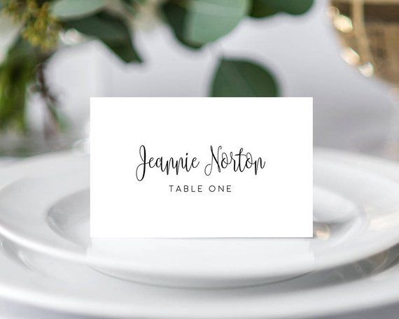 Place Cards Template Wedding Place Cards Wedding Place Card Etsy In 2020 Card Table Wedding Wedding Name Cards Wedding Place Card Templates