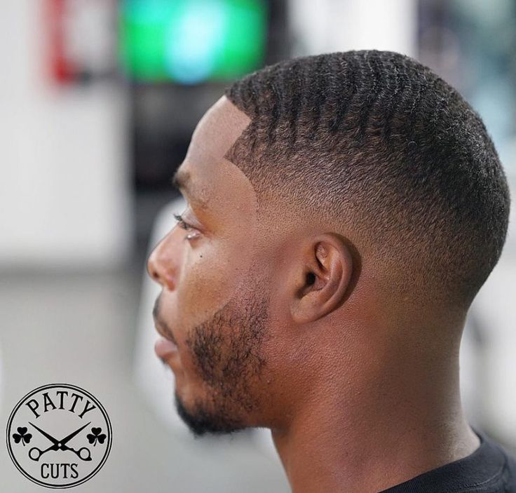 Bald Fade with Waves