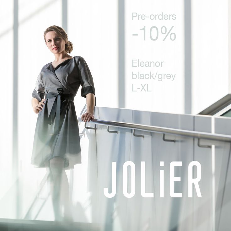 JOLIER restock -10% pre-order price drop still active for a limited time!! The upcoming restock for Eleanor L-XL black↔️grey two way dresses (image) now almost sold out! Place your pre-orders quickly! Business Casual jolier.com since 2008✌