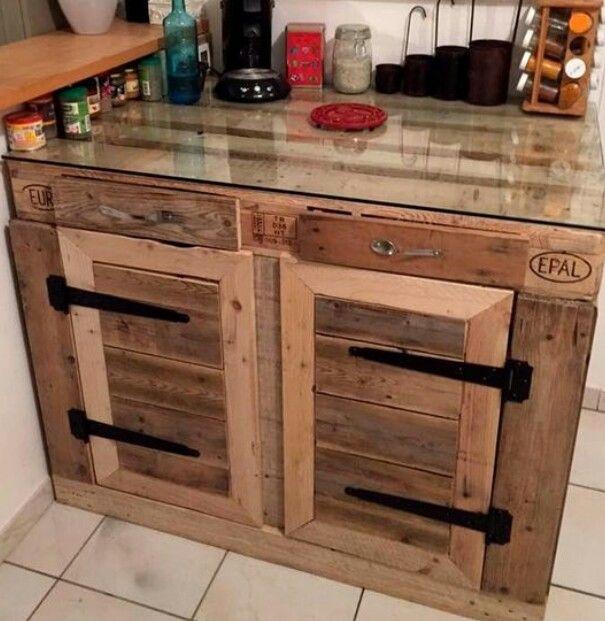 keukenblok cuisine pinterest palette meuble en palette et r cup. Black Bedroom Furniture Sets. Home Design Ideas
