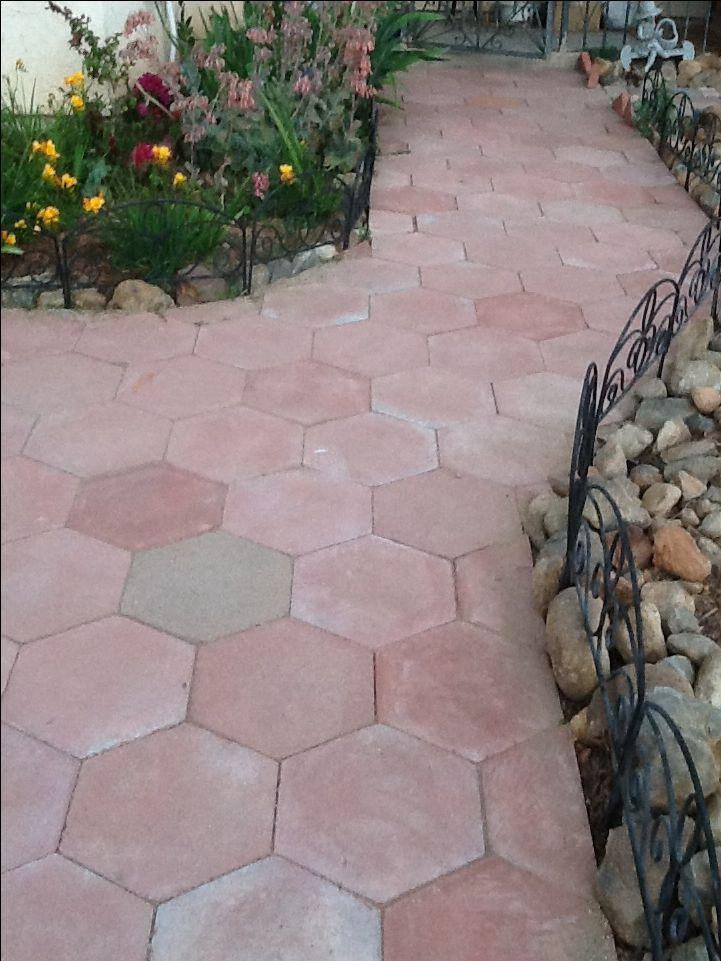 Hexagon Paver Walkway Front Walkways Pinterest Paver