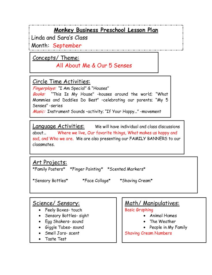 Toddler Lesson Plan Template Blank Preschool Weekly Lesson Plan - preschool lesson plan template