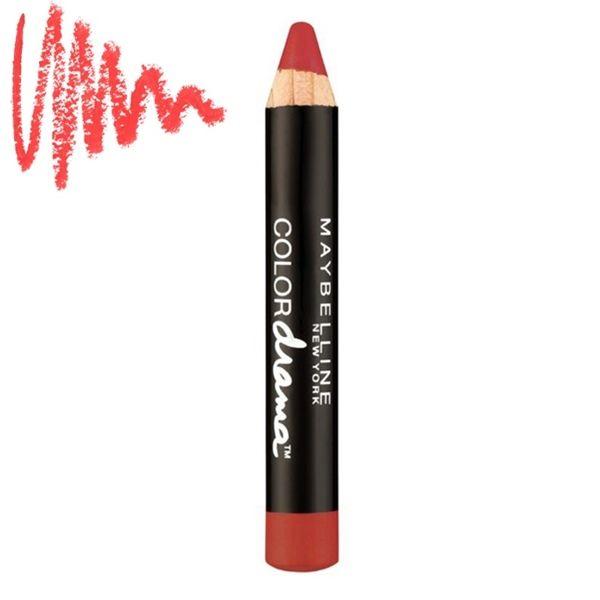 Τα Maybelline Color Drama Intense Velvet Lip Pencils είναι τα κραγιόν – μολύβια χειλιών, που θα σας χαρίζουν έντονο ματ αποτέλεσμα! Η σύνθεσή τους με ματ pigments θα σας χαρίσει έντονο χρώμα στα χείλη, με μεταξένιο τελείωμα. Η ματ σύστασή του εξασφαλίζει τη μέγιστη διάρκεια στο χρώμα!