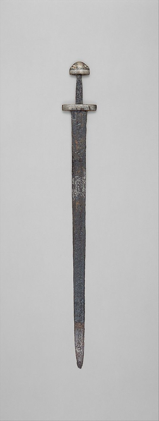 Sword, 10th century. European, probably Scandinavia. The Metropolitan Museum of Art, New York. Rogers Fund, 1955 (55.46.1) #sword