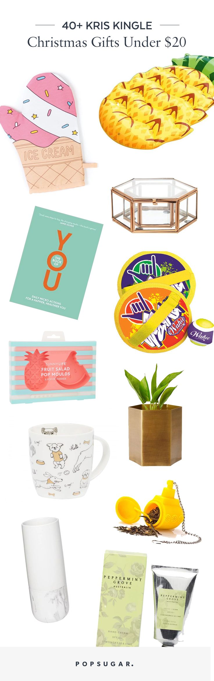 Popsugar Christmas Kris Kingle Gift Gift Present Ideas Under $20