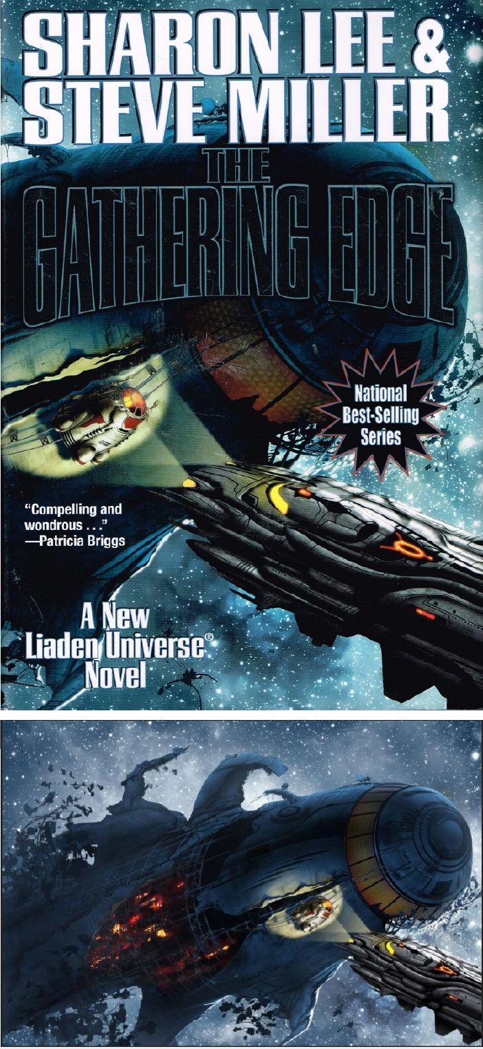 DAVID B. MATTINGLY - The Gathering Edge by Sharon Lee & Steve Miller - 2017 Baen Books - cover pin by Linda Broockmann - print by sharonleewriter