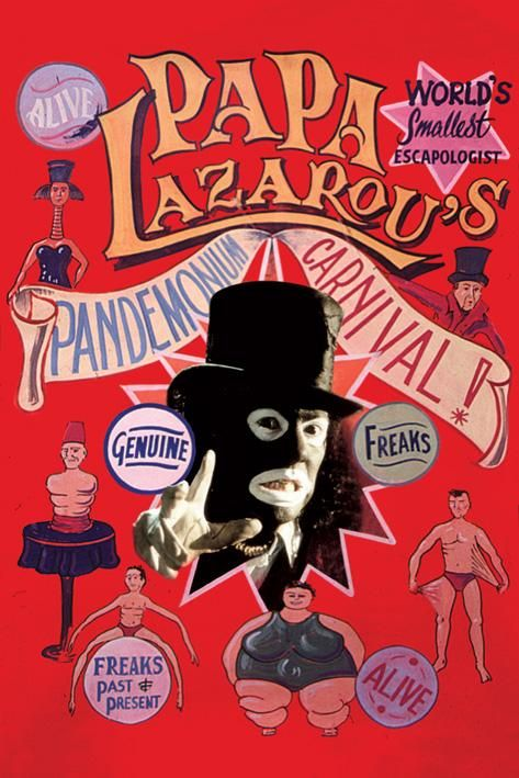 League Of Gentlemen. I think Papa Lazarou is officially the scariest person I've ever seen!!!
