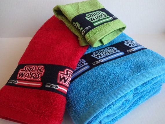 Set Of 3 Star Wars BAth Towels Star Wars Bathroom By AugustAve, $45.00