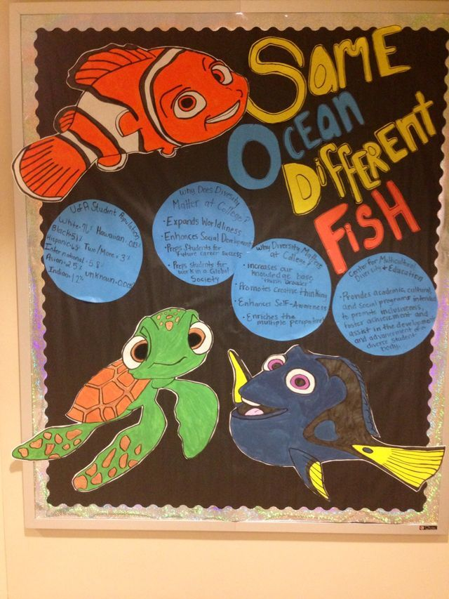 Diversity Bulletin Board Finding Nemo Theme Bulletin
