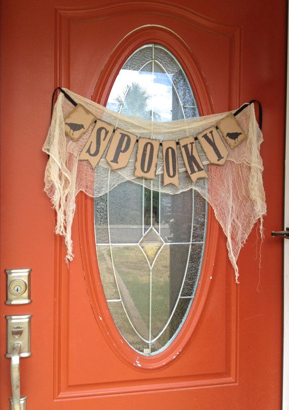 Spooky Halloween Banner Decoration by LetsWearDresses on Etsy