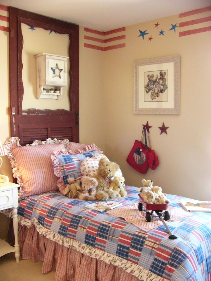 157 Best Patriotic / Americana Decor Images On Pinterest | Antique Furniture,  Ball Jars And Bed Bench