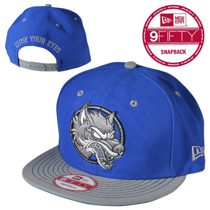 Close your eyes wolf new era hat blue new era hats
