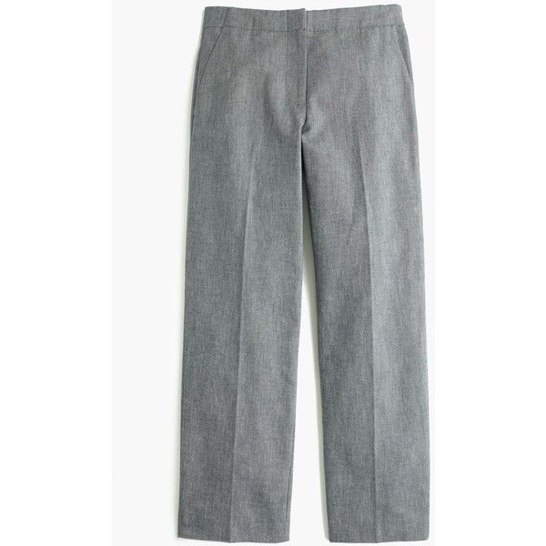J.Crew Patio Pant ($72) ❤ liked on Polyvore featuring pants, capris, straight pants, j. crew pants, dressy pants, j crew trousers and fitted pants