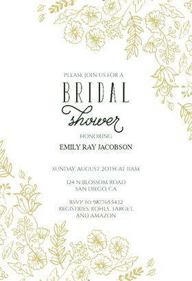 here comes the bride printable bridal shower invitation template