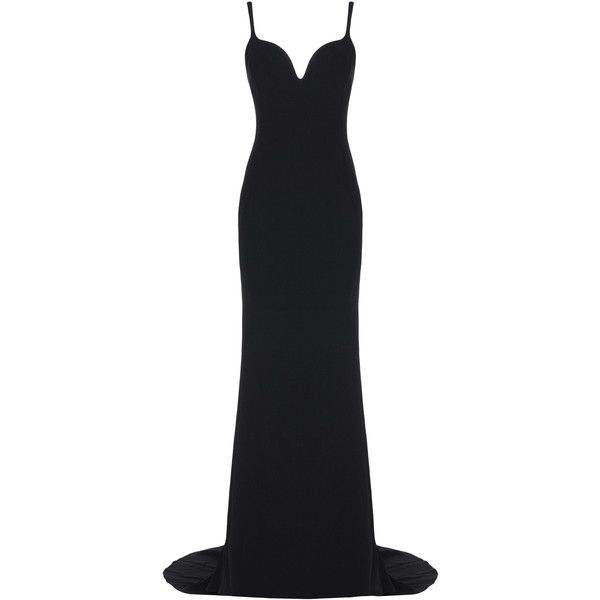 Stella McCartney Primrose Dress ($2,830) ❤ liked on Polyvore featuring dresses, gowns, long dresses, vestidos, black, sweetheart neckline dress, stretch dress, sweetheart gowns, zip dress and stella mccartney dresses