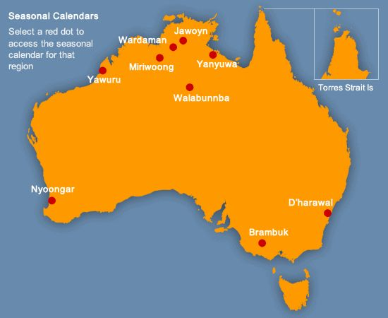 BOM Image map of Indigenous weather locations in Australia