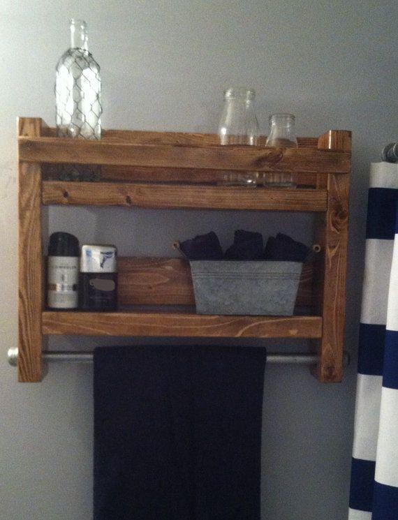 17 mejores ideas sobre estantes de ba o en pinterest - Toalleros de madera para bano ...