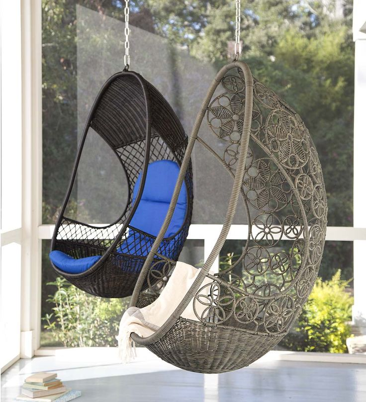 Hanging Pod Chairs  Easily hang this outdoor chair from a