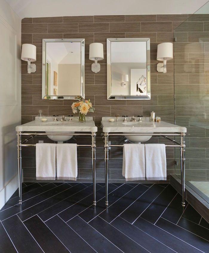 Les 1728 meilleures images du tableau salle de bain sur for Sdb petite surface