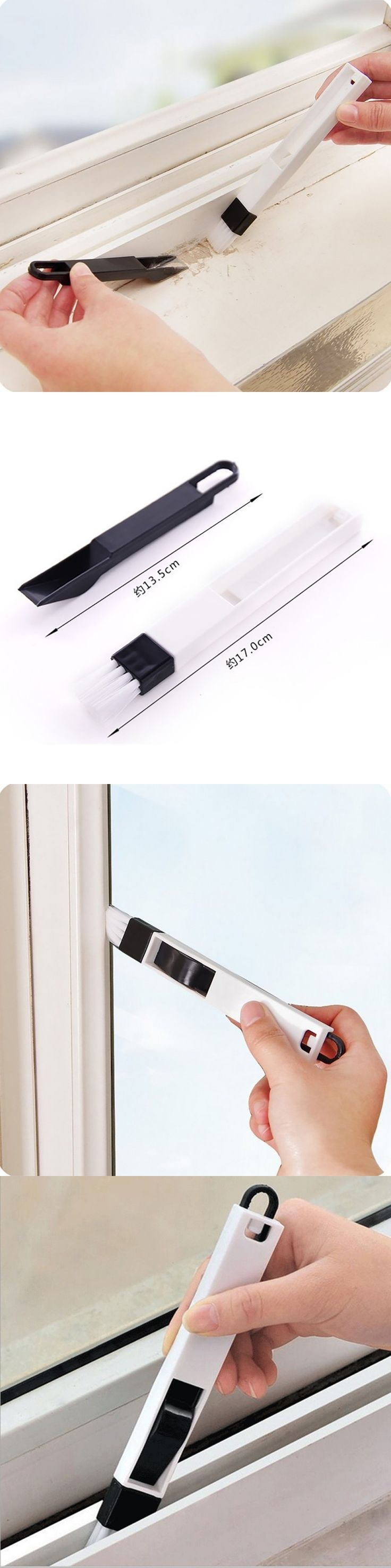 1pcs Windows recess groove  wash screens keyboard cleaning brush crevice brush with dustpan cleaning tool