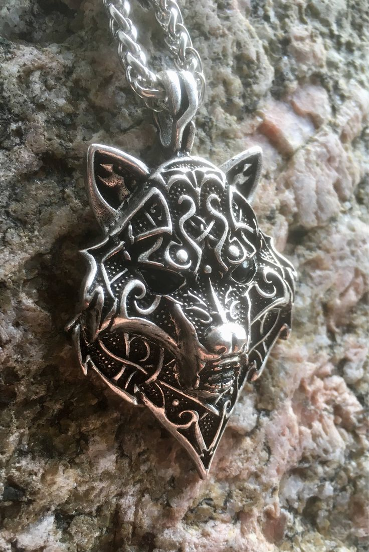 Excited to share the latest addition to my #etsy shop: Celtic / Viking Wolf Pendant Necklace #jewellery #necklace #silver #thor #odin #pagan #vikings