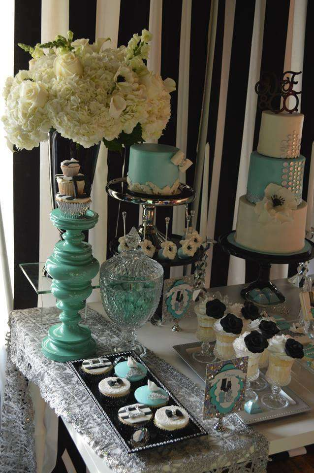 Stunning Tiffany birthday party! See more party ideas at CatchMyParty.com!