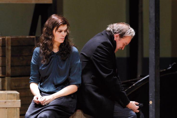 """""""Ivanov"""", Anton Tchekhov, mise en scène de Luc Bondy (Odéon, février 2015). Marina Hands et Ariel Garcia Valdes."""