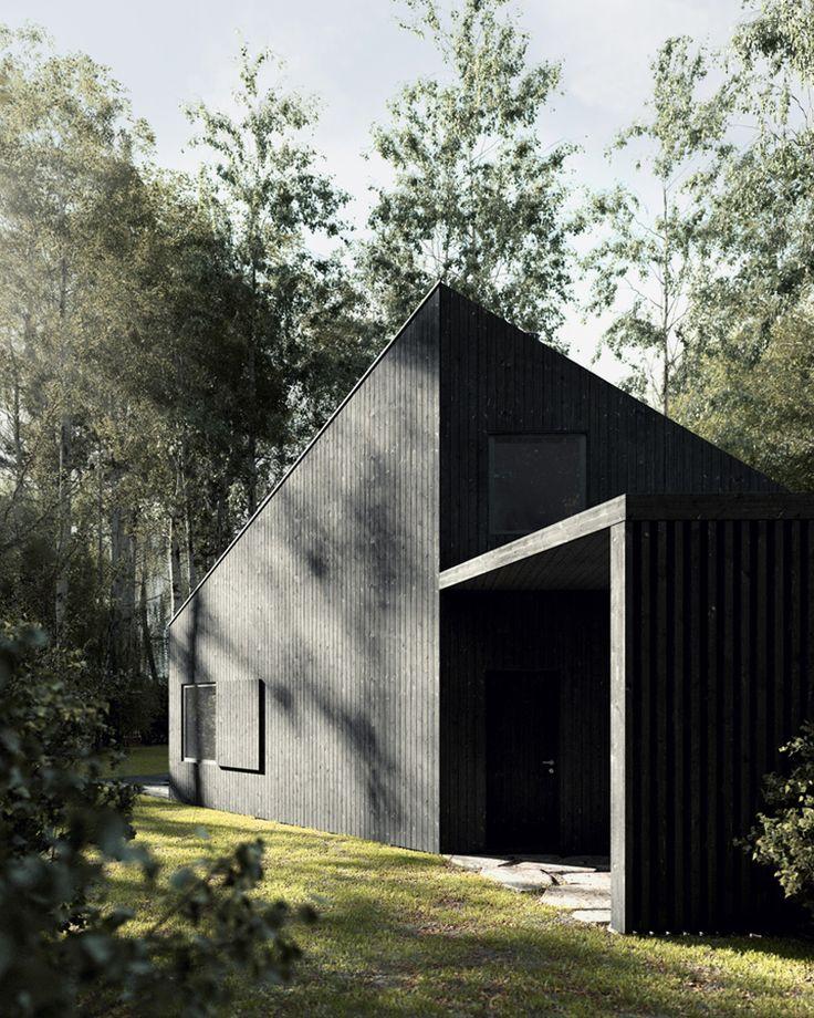 tez architekci WKD black thermowood house poland designboom