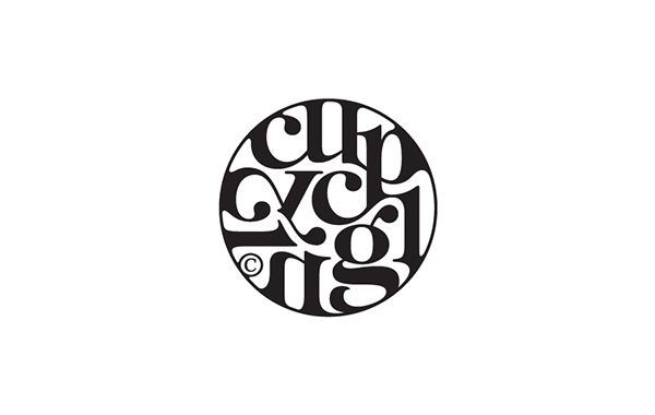 Logos & typos / 2013-2014 on Behance || CupCycling (logo concept for a café)