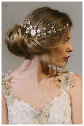 Sylvie wedding hair vine accessory by Debbie Carlisle - This whole website is lovely, just lovely.