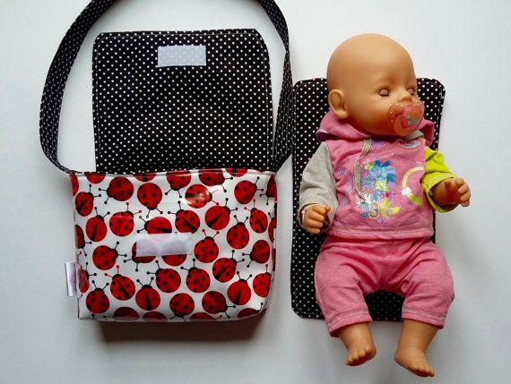 CHOOSE Fabric Wipe clean Dolly Changing Bag // Mini by SewSofia