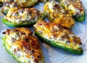 low carb stuffed jalepenos - I love these...better than jalepeno poppers!