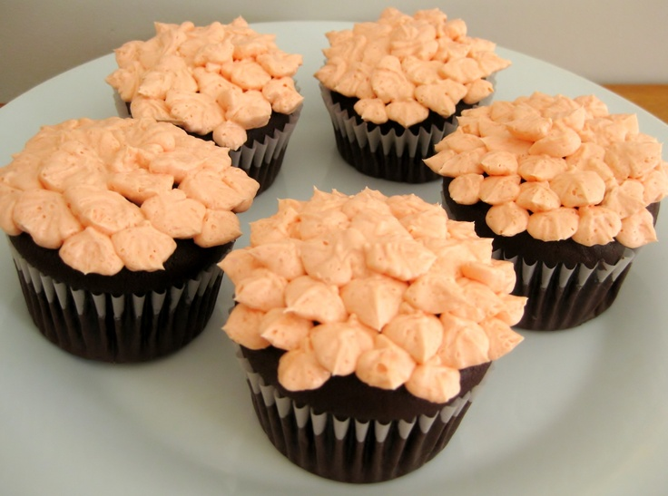 Orange You Glad Petal Cupcakes
