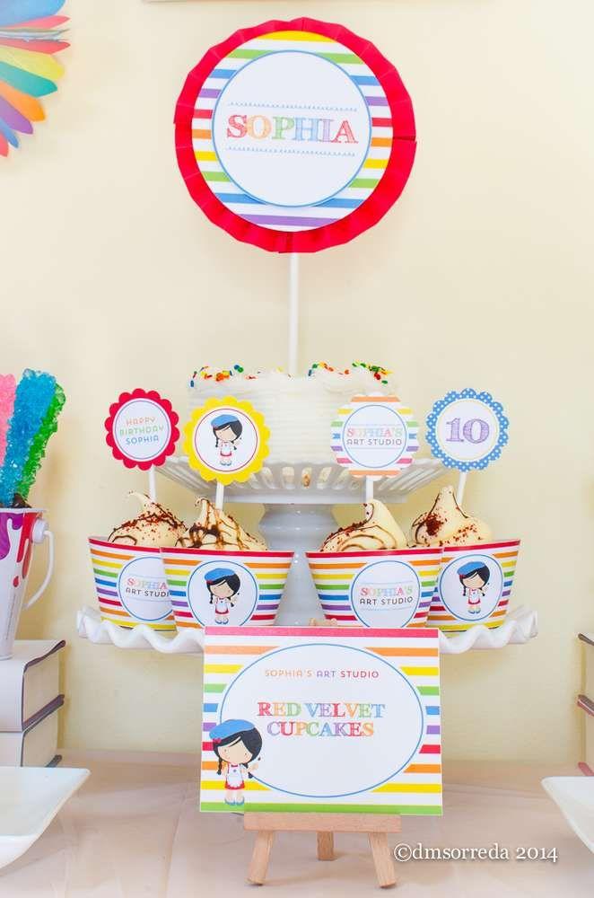 272 best Art Party Ideas images on Pinterest   Birthday party ideas ...