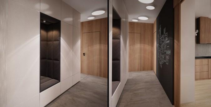 projekt minimalistycznego holu