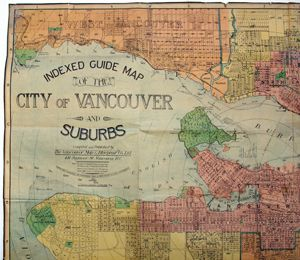 30 best vancouver printers and the book trade images on pinterest indexed guide map of the city of vancouver and suburbs vancouver map and blueprint co malvernweather Choice Image