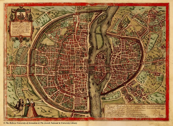 Amazing Maps of Medieval Cities – Earthly Mission: Paris