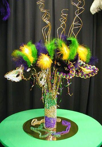 center piece for Mardi Gras!