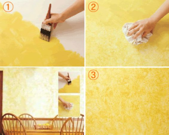 17 best images about fun faux on pinterest wall finishes for How to sponge paint a wall without glaze