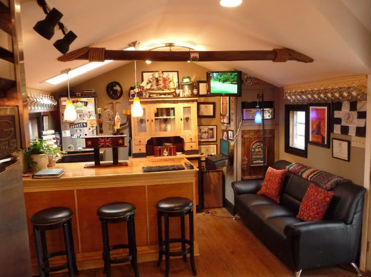 My Brewery And Alehouse Shed. This Is A Guy Pennsylvania That May Have The  · Man Cave ShedBar ...