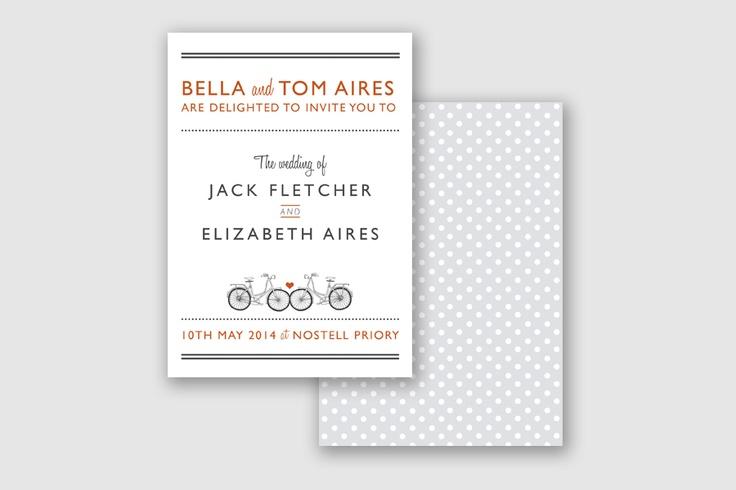 Bicycle Invite www.paperarrowpress.co.uk