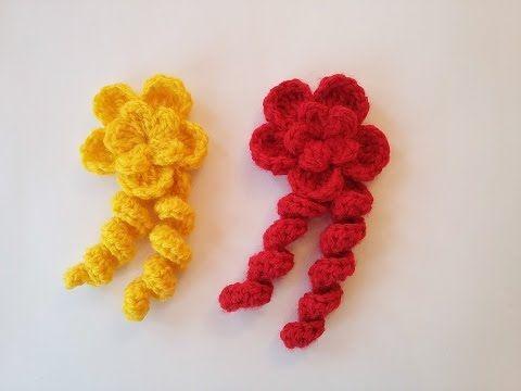 Tığ işi farklı çiçek yapımı - YouTube