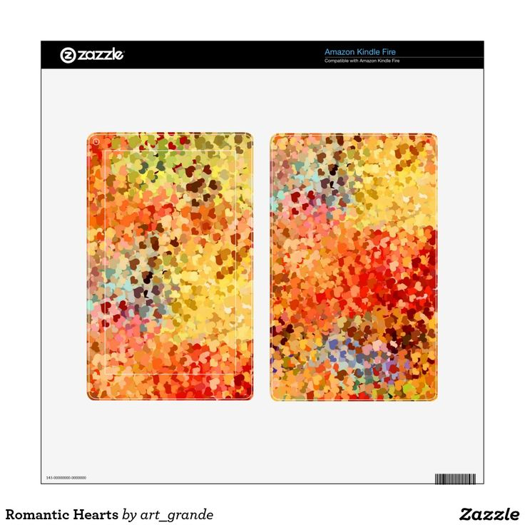 Romantic Hearts Skin For Kindle Fire
