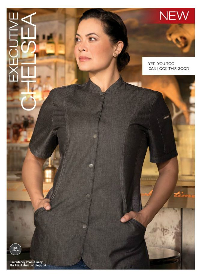 Chelsea Chef Coat - $56.99 #Stacey Poon-Kinney #Food Network